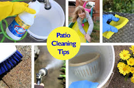 how to clean concrete patio how to