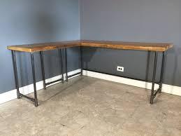 reclaimed wood l shaped desk ideas