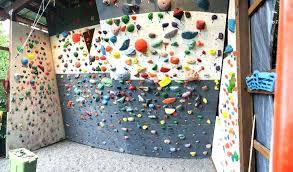 diy climbing wall backyard climbing gym diy climbing wall with wooden holds
