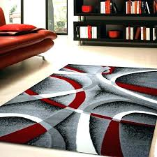 grey and tan area rug black gray rugs red brilliant circles rings contemporary hand white blue