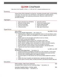Excellent Police Resume Examples Templates Sergeant Officer Samples