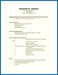 Resume Template No Gallery For Website Resume For College Student