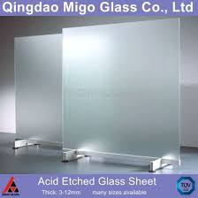 3 12mm flat clear acid etched glass sheets pictures photos