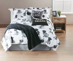 white twin duvet cover with doggy pattern for bedroom decoration ideas