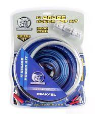 amp wiring kit bullz audio 4 gauge car amplifier amp installation power wiring kit bge4bb