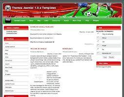 joomla football template. Joomla Template Sports Club Soccer Sport Team Club Template On
