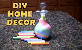Small Picture DIY Inexpensive Home Decor Ideas Salt Chalk Colorful Glass Vase