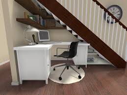 at home office ideas. RoomSketcher-Home-Office-Ideas-Use-Space-Below-Stairs At Home Office Ideas