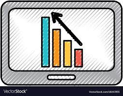 Tablet Chart Business Tablet With Financial Chart Economy Data