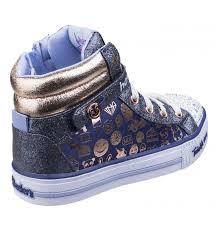 skechers kids girls. skechers twinkle toes: shuffles - giggle glam navy/golf kids girls footwear e