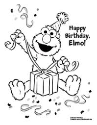 elmo birthday coloring pages. Perfect Birthday Elmo Loves To Open Presents Coloring Page And Birthday Pages S