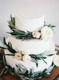White Wedding Cake With Greenery And Pink Floral Oh Best Day Ever
