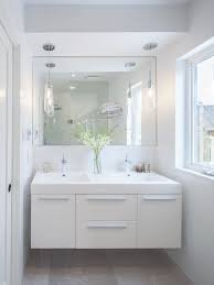 bathroom vanity pendant lighting. trendy bathroom photo in toronto with flatpanel cabinets white and an integrated vanity pendant lighting