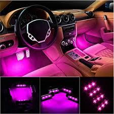 Amazon Car Lights Car Led Strip Light Ejs Super Car 4pcs 36 Led Car Interior Lights Under Dash Lighting Waterproof Kit Atmosphere Neon Lights Strip For Car Dc
