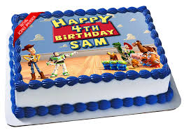 Toy Story Edible Icing Image Cake Topper Personalised Birthday Party
