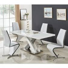 extending dining table sets. Axara Small Gloss Extendable Dining Table Set With 4 Gia Chairs Extending Sets O