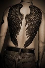 тату крылья ангела на спине фото