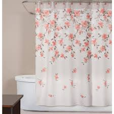 Coral Design Shower Curtain Saturday Knight Coral Garden Floral 72 In Polyester Shower