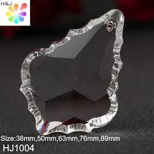 hj 1004 clear glass crystal maple leaf chandelier prism parts decoration lamp light hanging pendant