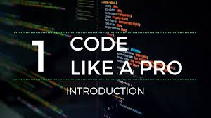 Code Like A Pro Introduction How To Write Code Professionally