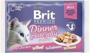 """Набор <b>паучей</b> для кошек <b>Brit Premium</b> """"Dinner Plate <b>Jelly</b>"""", кусочки ..."""