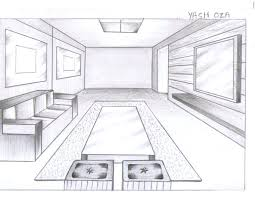 kitchen drawing perspective. Plain Kitchen Kitchen 2 Point Perspective How To Draw A Corner Of Room In  One  Living Drawing  On Kitchen Drawing Perspective