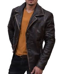 dean winchester distress leather coat