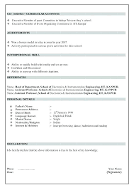 Resume Doc Format Sample Resume Format For Freshers Resume Format ...