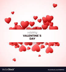Happy Valentines Day Greeting Card Concept Design