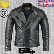 mens black real leather jacket vintage biker style slim fit leather jacket