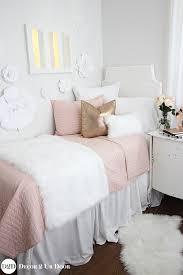 blush pink fur rose gold teen girls bedding