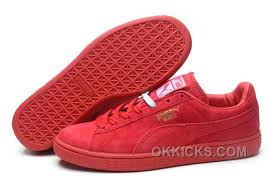 Puma Rihanna Suede Creepers 1608 Women Men Red Free Shipping Thdxf