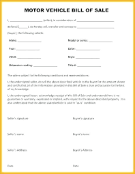 Download Bill Of Sale Template