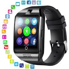 LEMFO Bluetooth <b>Smart Watch Men</b> Q18 With Touch Screen Big ...
