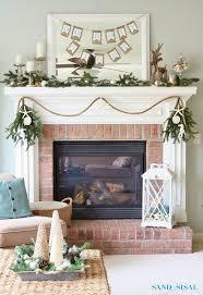 coastal fireplace decor
