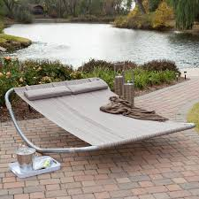 Cool Hammock Cool Modern Striped Hammock With Cotton Material And Grey Iron