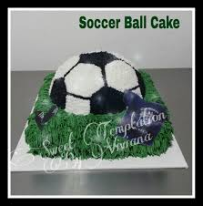 How To Decorate A Soccer Ball Cake Soccer ball cake Bizcocho de soccer Sweet Temptation By Viviana 90