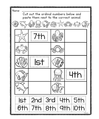 Ordinal Numbers Worksheets for First Grade | Homeshealth.info