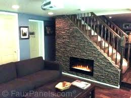 faux river rock rock electric fireplace river rock electric fireplace faux river rock fireplace surround stone
