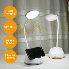 Sạc Đèn Bàn Bảo Quản Bút Hoder Đèn Bàn LED Cảm Ứng Đèn Mờ Đèn Bàn USB Vòi Đèn  Led Học Sinh Để Bàn 4 màu sắc|