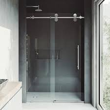 frameless sliding shower doors. Exellent Doors Shop VIGO Elan Adjustable Frameless Sliding Shower Door  On Sale Free  Shipping Today Overstockcom 9617981 To Doors I