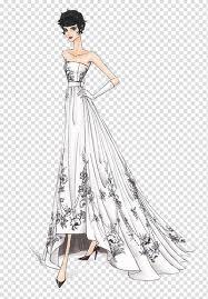 Model Dress Design Drawing Drawing Fashion Illustration Dress Illustration Hand