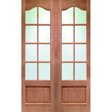glass panel double door