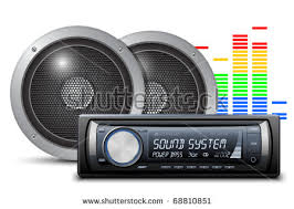 sound system clipart. car audio with speakers. vector illustration sound system clipart