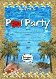 kids party invitations pool party invitation pool party invitation