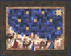 Adoration Quilts, Applique' Nativity Projects by Rachel W. N. Brown & how far is it to bethlehem? gathering at his manger bed Adamdwight.com