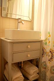 vessel sink vanity base. Bathroom Diy Sink Floating Shelf Sinks And Shelves Extraordinary Out With The Suburban Urbanist For Vessel Vanity Base .
