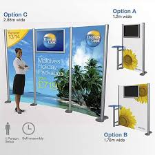 Exhibition Display Stands Uk Classy TV Display Stand Portable LCD System With Printed Graphics