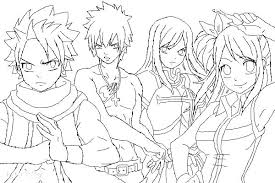 Fairy Tail Coloring Pages Fairy Tail Coloring Pages Fairy Tail