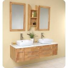 contemporary bathroom vanity sets. fresca bellezza natural wood modern double vessel sink bathroom vanity available at bath kitchen and beyond. shop our extensive line of vanities contemporary sets